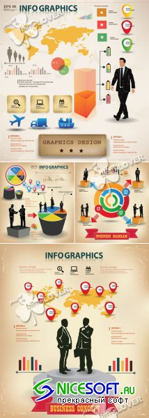 Business infomation graphics elements 0422