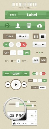 WeGraphics - Old Wild Green iPhone Controls
