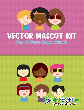 WeGraphics - Vector Mascot Creation Kit Vol 2