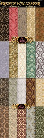 French Wallpaper Photoshop Patterns