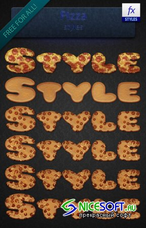 Pizza Photoshop Styles