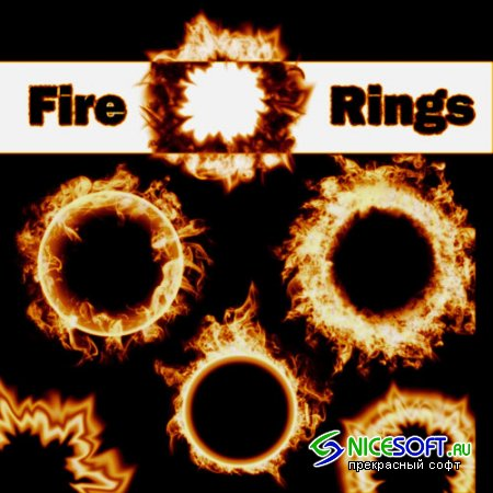 6 Fire Ring Photoshop Brushes