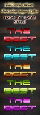5 Different Colours Gaming Photoshop Styles