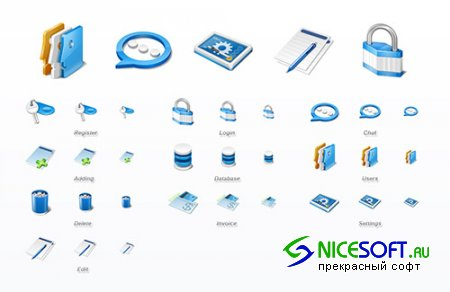 10 Application Icons Set