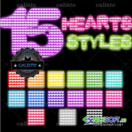 15 Hearts Styles for Photoshop (REUPLOAD)
