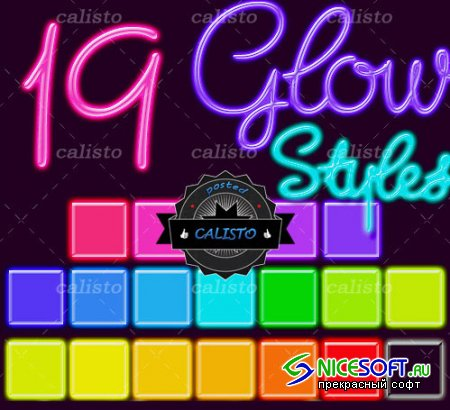 19 Glow Styles for Photoshop (REUPLOAD)