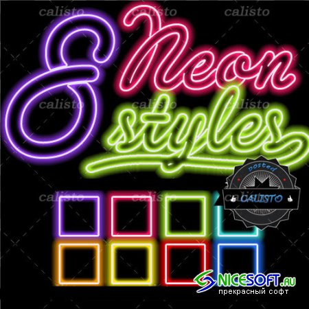 8 Neon Styles for Photoshop (REUPLOAD)