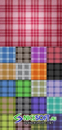 Tileable Fabric Texture with 21 Colors