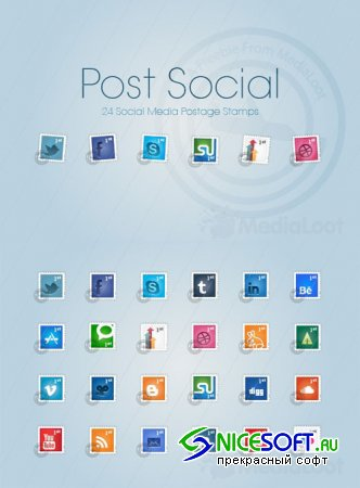 Social Postage Stamps Part 1 - MediaLoot