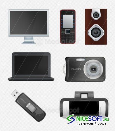 Free Tech & Home Office Icons - MediaLoot