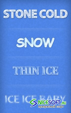 Winter Ice Font Styles for Photoshop