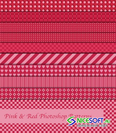 Patterns for Photoshop - Pink and Red
