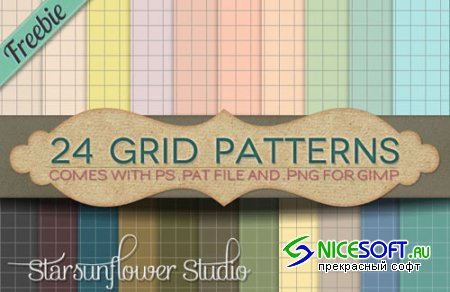 24 Grid Patterns for Photoshop
