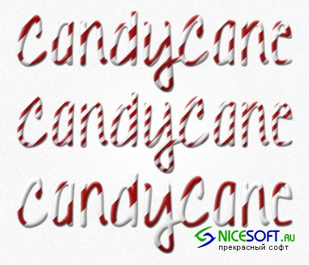 Candy Cane Christmas Layer Styles