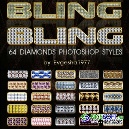 64 Diamonds Styles for Photoshop
