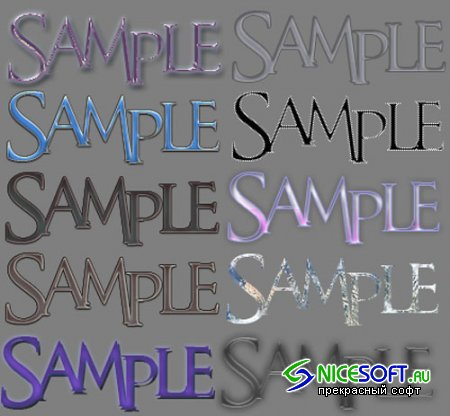 Photoshop Styles Pack 2