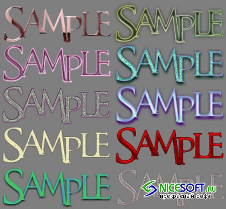 Photoshop Styles Pack 3